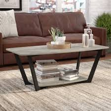 industrial coffee table with wheels industrial coffee tables you ll love wayfair