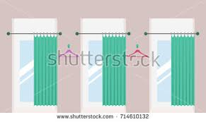 Fitting Room Curtains Free Dressing Room Vector Download Free Vector Art Stock