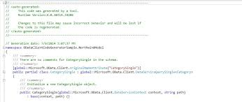tutorial u0026 sample how to use odata client code generator to