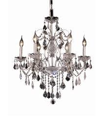 Elegant Lighting Chandelier Elegant Lighting V2015d24c Rc St Francis 6 Light 24 Inch Chrome