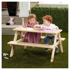 rectangle wooden kids picnic table merry products target