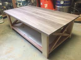 ana white rustic x table walnut top diy projects