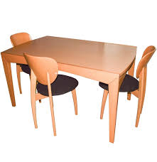 calligaris beechwood extendable dining table and chairs ebth