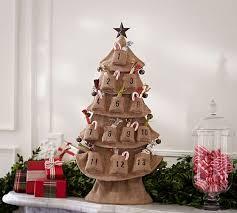 burlap tree advent calendar pottery barn