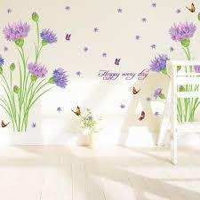 Purple Carnations Home Furnishings Romantic Wedding Room Bedroom Wall Stickers