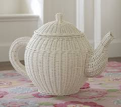 Pottery Barn Wicker Tea Pot Basket Pottery Barn Kids