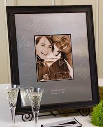 signable wedding platters vintage signature frame wedding guestbook by idoengravables