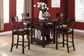 Counter High Dining Room Sets by F2347 Counter Height Tables Wine Storage Welcome To Decoreza