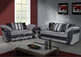 ebay sofa lush 3 2 seater sofa armchair faux leather fabric black