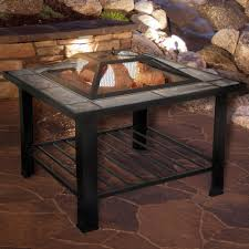 Outdoor Table With Firepit by Fire Pit Set Wood Burning Pit Includes Screen Cover And Log