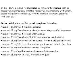 Security Engineer Resume Haadyaooverbayresort Com Wp Content Uploads 2017 0