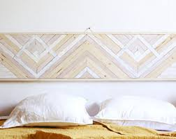 Headboard Wall Decor by Wood Headboard Etsy