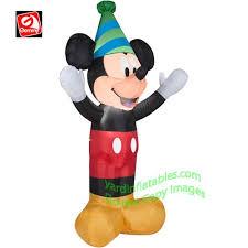 gemmy airblown 4 disney mickey mouse wearing hat