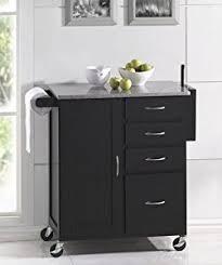 amazon com kitchen island cart with granite top espresso finish