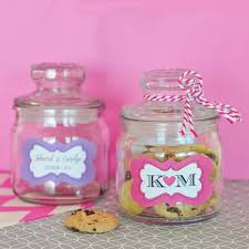 personalized mini cookie jars for favors
