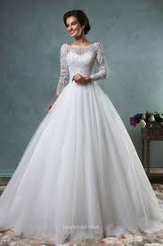 elegant ball gown boat neckline lace tulle backless wedding dress