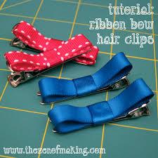 ribbon hair clip tutorial ribbon bow hair handled scissors