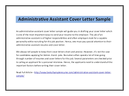 administrative associate cover letter job cover letter