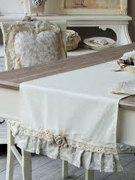 shabby chic table runner runner shabby chic angelica home country collezione lady rose pois