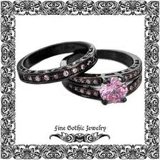 black and pink wedding ring sets best wedding ring sets products on wanelo