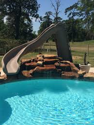 summit usa swimming pool slides for in ground residential and