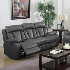 Gray Leather Reclining Sofa Nathanielhome Benjamin Motion Leather Reclining Sofa Reviews