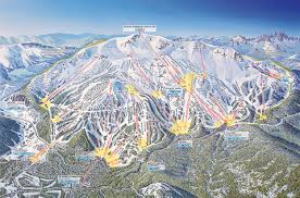 Colorado Mountain Map by Mammoth Mountain Ski Area Trail Map