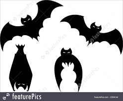 set of halloween bats illustration