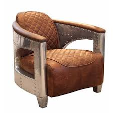 Leather Armchair Aviator Leather Armchair Brown Leather Club Chair Modish Living