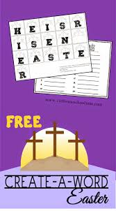 easter create a word free printable spelling activity