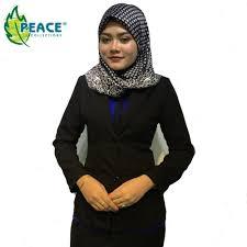 blazer wanita muslimah modern peace collections bhd