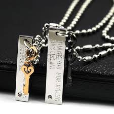 custom engraved jewelry custom engraved matching his and hers necklaces set for 2