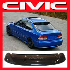 2000 honda civic spoiler jdm 1998 civic ek 2 door coupe rear window visor with brackets
