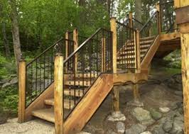 Wooden Stairs Design Outdoor Outdoor Wooden Stairs Design A More Decor