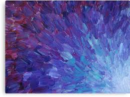 scales of a different color abstract acrylic painting eggplant