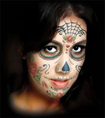 cheetah face makeup for halloween amazon com day of the dead sugar skull full face temporary