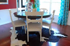 transitional dining room ideas modern home interior design cow hide rugs layered rugs