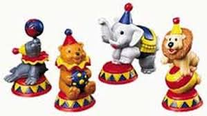 circus cake toppers circus animals topper set wilton
