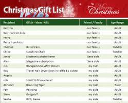 christmas gift list christmas gift list my excel templates