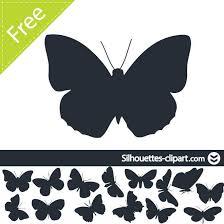butterflies silhouettes vector at vectorportal