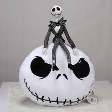 popular pillow doll buy cheap pillow doll lots from china pillow new 2pcs the nightmare before christmas jack skellington round white plush doll toys pillow cushion