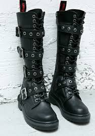 motorcycle style boots goth boots i want it black