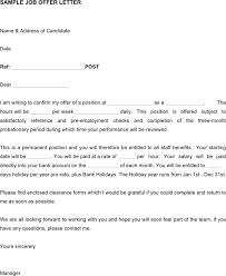 job offer letter sample 575709 sample employment offer
