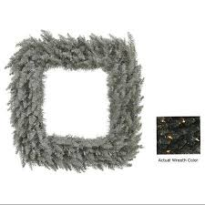 buy 30 quot black fir artificial square wreath clear