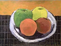 roberto trigas artwork fruit bowl original painting encaustic
