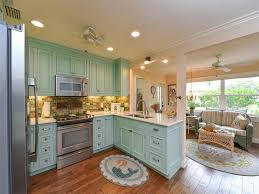 Ceiling Fan For Kitchen Country Kitchen With Flat Panel Cabinets U0026 Ceiling Fan In Venice