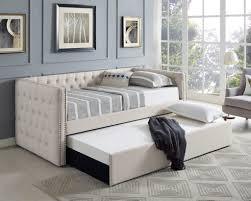 crown mark 5335iv set trina upholstered daybed cream mattresses
