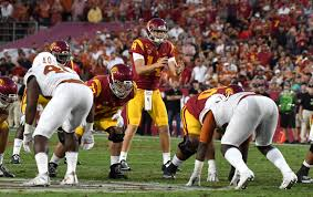 steadied by sam darnold usc increasingly no stranger to second