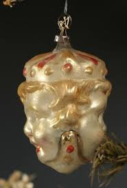 antique figural glass tree ornament 2 sided boy s
