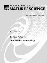 lecture notes for introduction to cosmology milky way universe